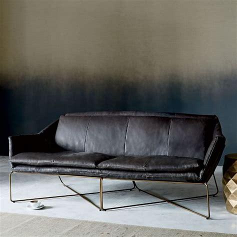 Origami Sofa - origami leather sofa west elm