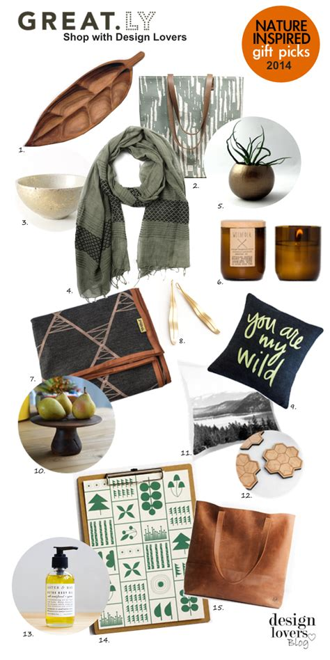 nature inspired home decor gifts design lovers blog