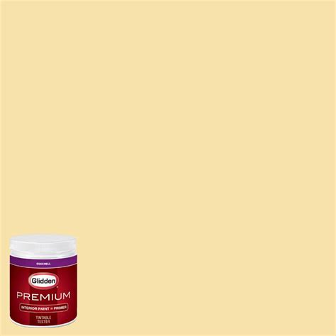 glidden premium 8 oz hdgy33u lemon eggshell interior paint with primer tester hdgy33up