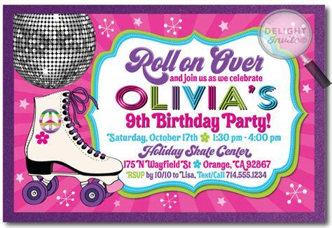 roller skating invitation template roller skating birthday invitations wblqual