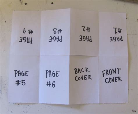 How To Fold A3 Paper Into A Booklet - how to make a one page zine experiment with nature