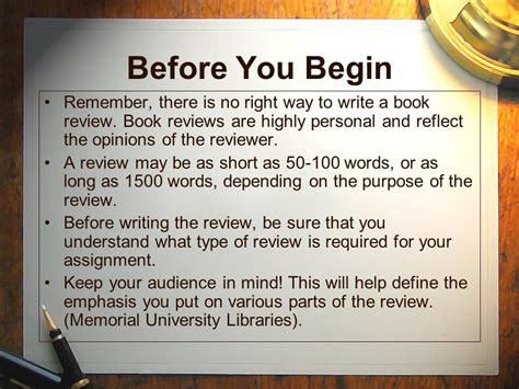 Write Book Reviews by How To Write A Book Review Ppt