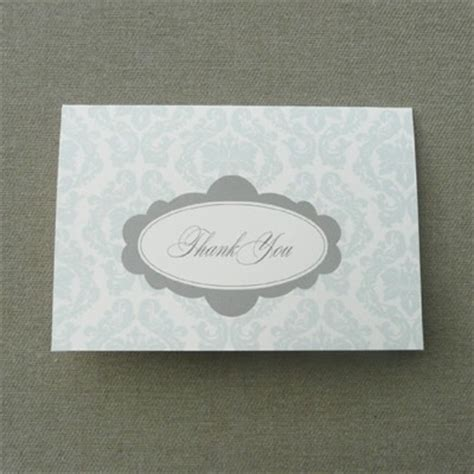 Damask Thank You Card Template by Damask Wedding Thank You Card Template