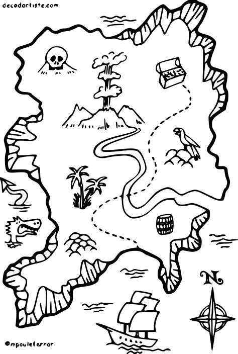 Coloriage Carte De Pirate 224 Imprimer Sur Coloriages Info