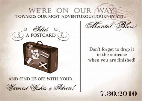 postcard guest book weddingbee - Postcard Wording Ideas For Wedding Guest Book