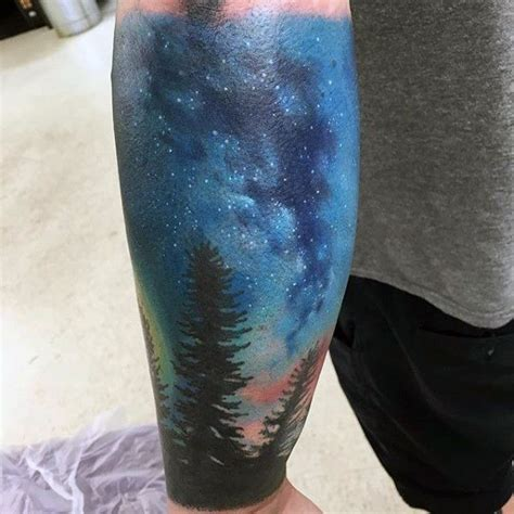 milky way tattoo forest and way tattoos