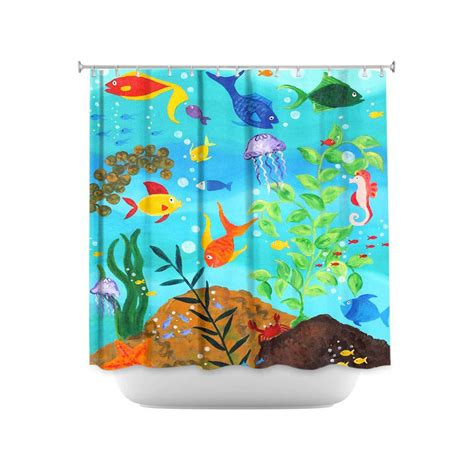 Fish Shower Curtains Fish Shower Curtain Happy Fish Colorful Tropical Fish