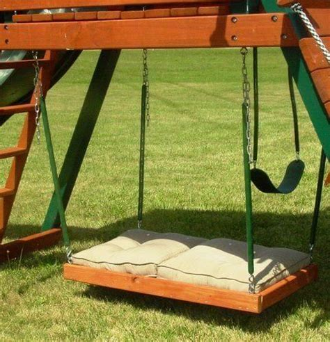 why swing why build your child a boring swing set when you can use