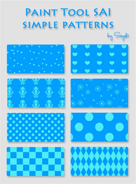 simple pattern to paint simple patterns for sai by sayuki art on deviantart