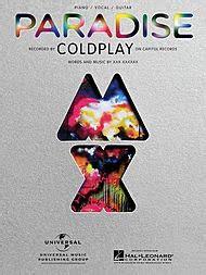 coldplay genre piano sheet music piano notes coldplay paradise piano