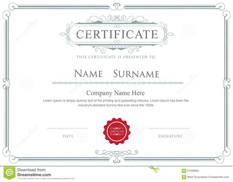 certificate layout vector certificate borders vector it resume cover letter sle