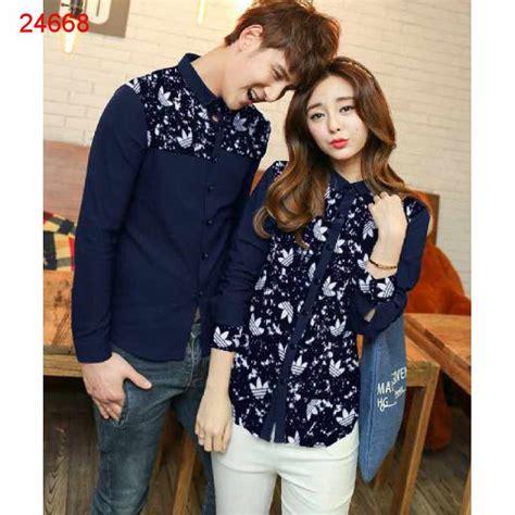 Baju Baju Pasangan Murah Tipe M46 0858 6894 5695 kemeja batik lengan panjang produk