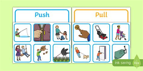 Push And Pull Card Template push or pull sorting cards