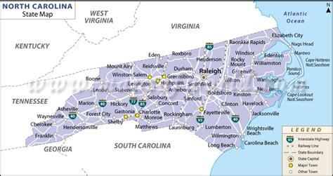 maps nc map of carolina state map of usa