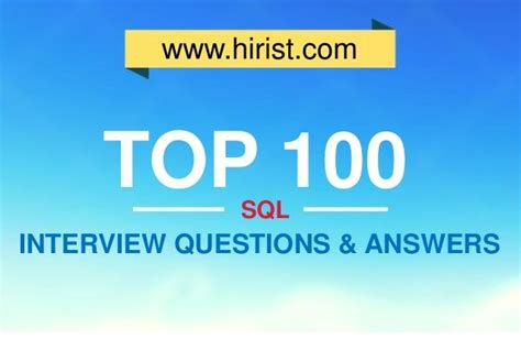 sql tutorial questions and answers top 100 sql interview questions and answers sql