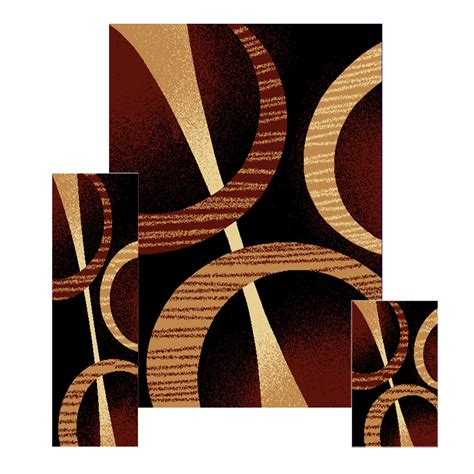 accent rug sets 3 pc set modern contemporary geometric area rug runner