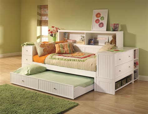 White Daybed With Trundle And Storage Unit Also Bookcase White Daybed With Bookcase