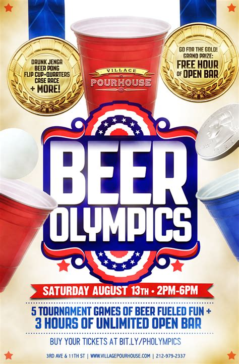 pour house nyc beer olympics at village pourhouse tickets village pourhouse new york ny