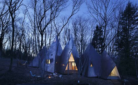 tipi house tipi houses in the woods fubiz media