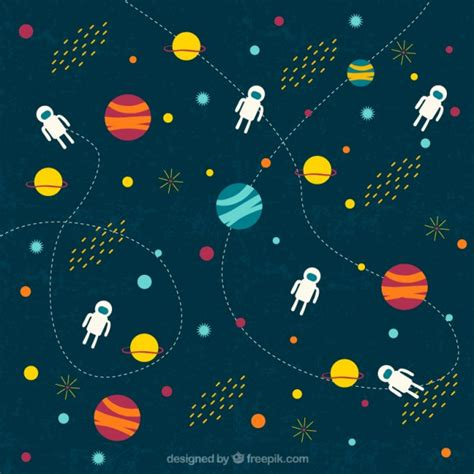 space pattern background free outer space illustration vector free download