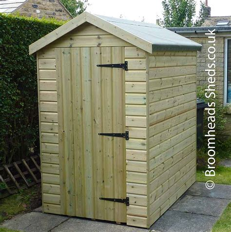 Garden Shed Roof by 16mm Tanalised Timber Pent Shed