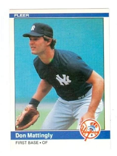 Don Mattingly Rookie Card by Don Mattingly Baseball Cards