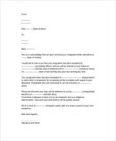 World Best Letter Of Resignation Template Letter Of Resignation Acceptance Shishita World