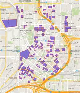 Downtown Atlanta Map by This Map Shows Just How Much Parking We Have In Downtown