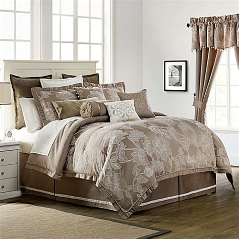 bed bath and beyond waterford waterford 174 linens trousseau reversible comforter set in