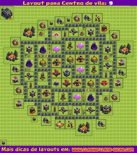 layout clash of clans layouts para clash of clans cv 9 atualiza 231 227 o 4