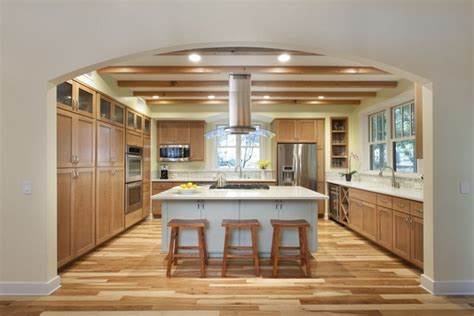 hickory kitchen island 33 best ideas hickory cabinets for naturally beautiful kitchen