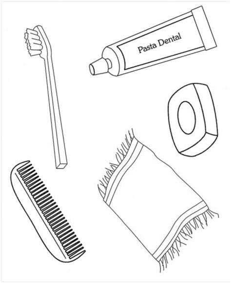 imagenes para colorear utiles de aseo personal dibujos de utensilios de aseo personal imagui
