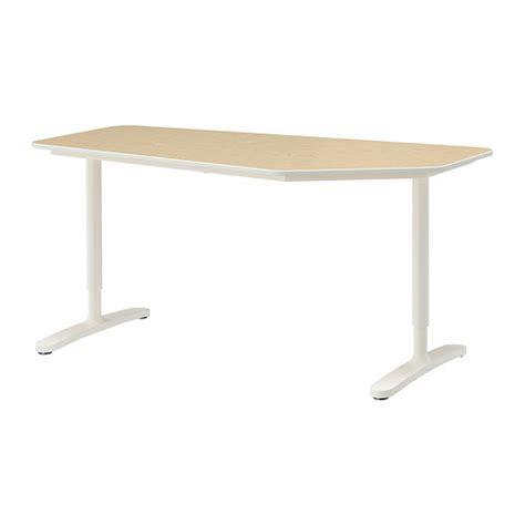schreibtisch 50 cm tief bekant 5 sided desk birch veneer white 63x31 1 2 quot ikea