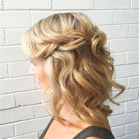 wedding hairstyles half up half down for short hair 30 half up half down wedding hair style hairstyles