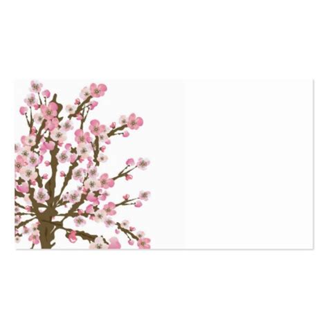 Cherry Blossom Tree Card Template by Cherry Blossom Tree Business Card Zazzle