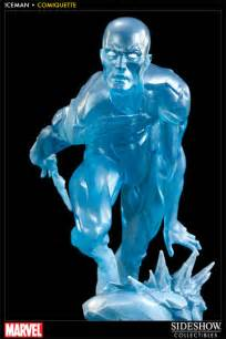 marvel iceman polystone statue by sideshow collectibles