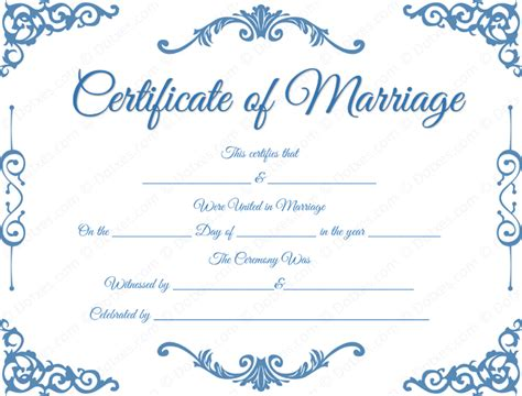 free printable marriage certificate template traditional corner marriage certificate template dotxes