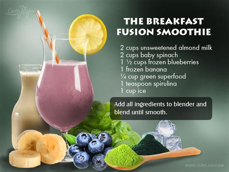 energy drink in the morning high energy smoothies breakfast