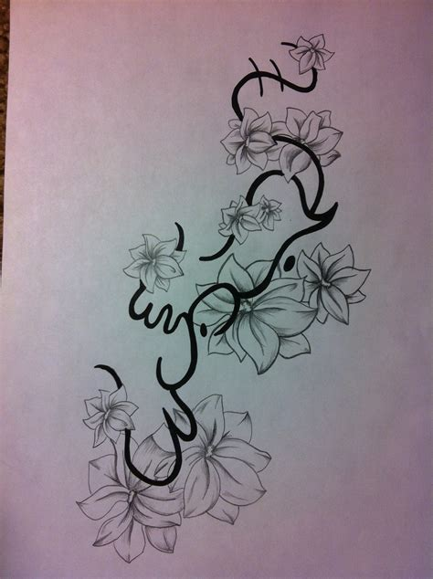 flower and name tattoo ideas art of ink alibata simpaguita flower tattoo design for