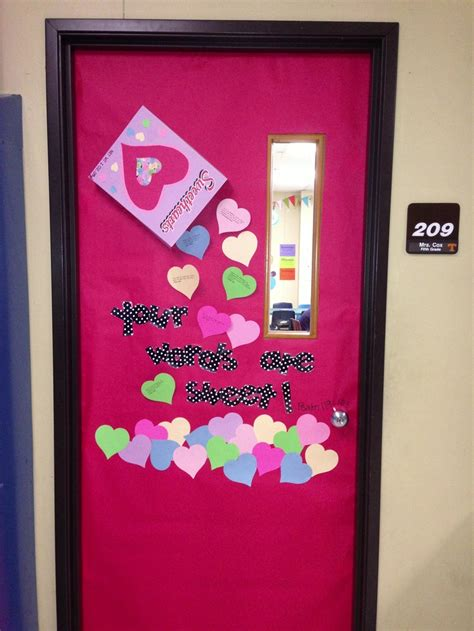 door decorations for valentines valentines day door bulletin board idea i put