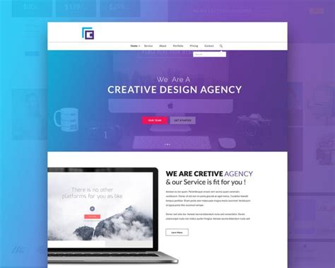 free html website templates for advertising agency creative agency website template free psd download