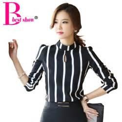 Out long sleeve striped bodysuit chiffon blouse 2015 plus size jpg