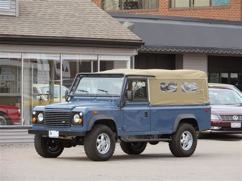 land rover convertible blue 1994 land rover defender 110 convertible copley motorcars