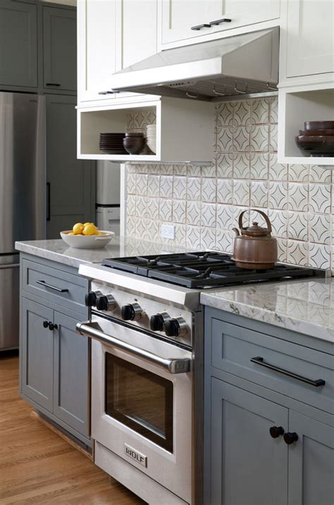 gray and white kitchen ideas copper pulls for kitchen cabinets quicua com