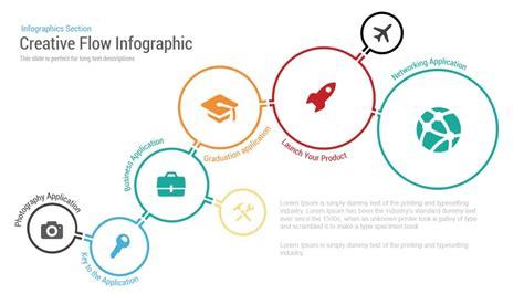 creative flow infographic powerpoint template slidebazaar