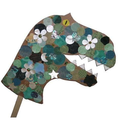 Paper Dinosaur Craft - dinosaur craft cardboard magazine pieces felt tissue