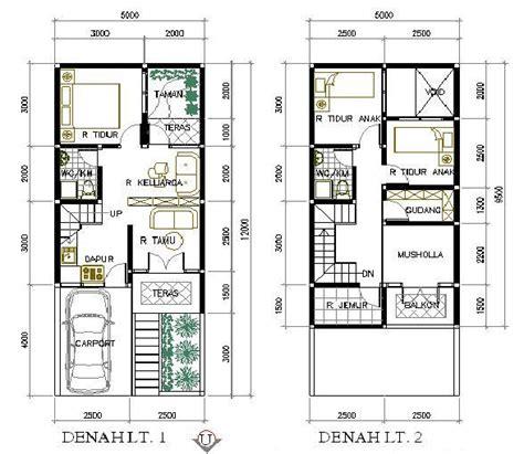 27 contoh denah rumah 2 lantai terlengkap 2017 desain rumah minimalis 2018