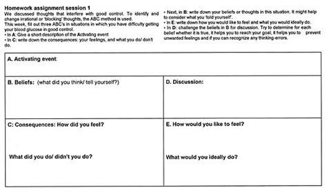 Rebt Worksheets by Cognitive Behavioral Therapy Worksheets For Depression