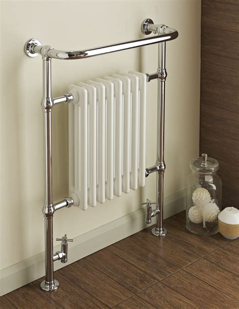 White Bathroom Radiator by Dunbar Chrome White Traditional Radiator Towel Warmer