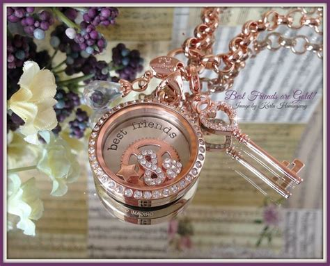origami owl best friends 11 best images about gold lockets on